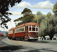 Glenelg Tram by Joseph Spinella