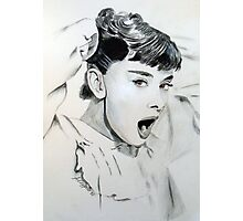 Audrey Hepburn (in Roman Holiday) Photographic Print