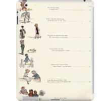 Under the Window Pictures and Rhymes for Children Edmund Evans and Kate Greenaway 1878 0016 Contents iPad Case/Skin
