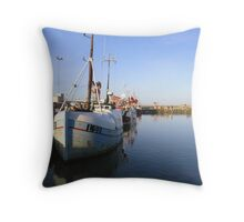 Cutters moored Throw Pillow