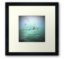 Shrimp Fishing near by Gorgona Island - Pacific Ocean - Colombia Framed Print