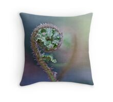 Anticipating fulfilment Throw Pillow