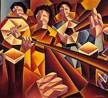 Trad session 2 interior with structured musicians by Alan Kenny