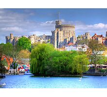 Windsor Castle and the River Thames - HDR Photographic Print