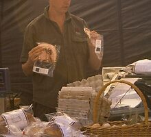Matthew Evans at Salamanca Markets, Tasmania by Elana Bailey