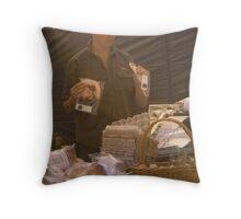 Matthew Evans at Salamanca Markets, Tasmania Throw Pillow