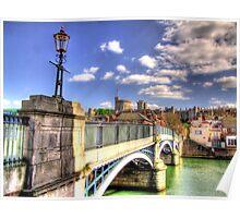 Old Windsor Bridge - HDR Poster