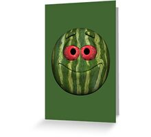 Watermelon Smiley Greeting Card