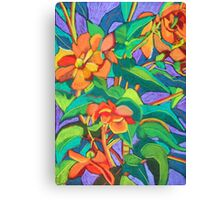 Orange Begonia Canvas Print