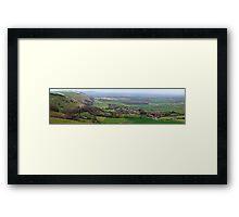 Devils Dyke Brighton - The Fulking Escarpment  Framed Print