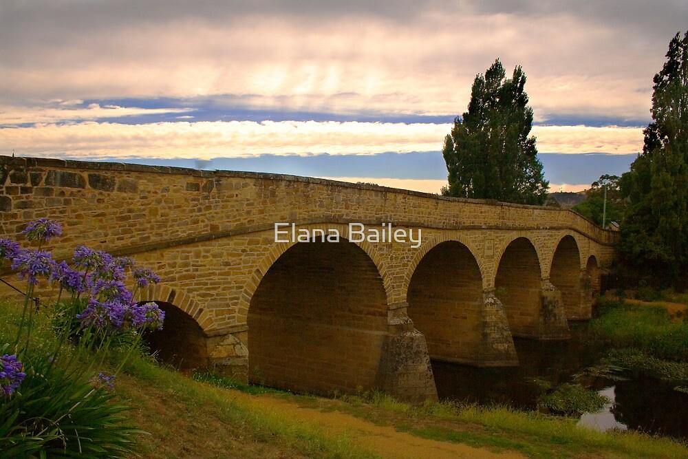 Richmond Bridge on a cloudy day, Tasmania by Elana Bailey