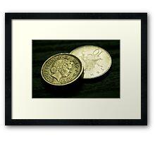 Coins... Framed Print