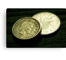 Coins... Canvas Print
