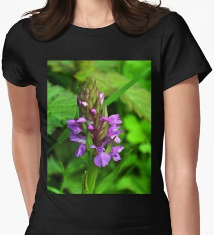 Pyramidal Orchid....Lyme, Dorset UK Womens Fitted T-Shirt
