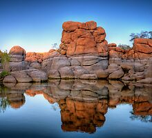 Squared Off Rocks by Bob Larson