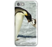 Emperor Penguin Feeding Chick, Antarctica  iPhone Case/Skin