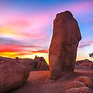 Joshua Tree Sunset Jumbo Rocks by photosbyflood