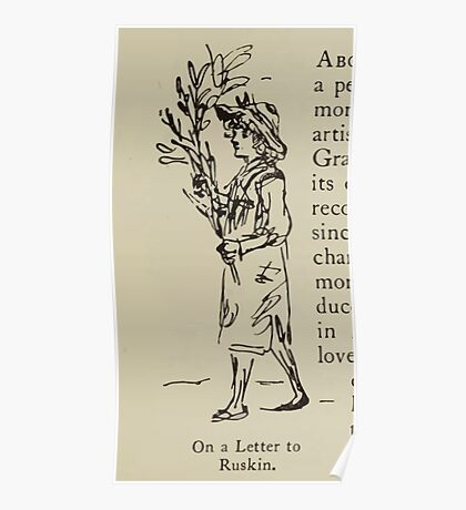 Kate Greenaway Collection 1905 0029 On a Letter to Ruskin Poster
