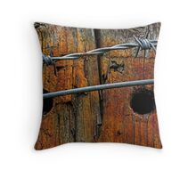 Wood & Wire 001 Throw Pillow