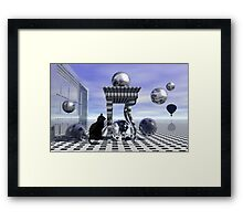The tenth life of a cat Framed Print