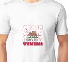 California state flag typograhy Unisex T-Shirt