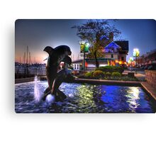 Dolphins in Baltimore Canvas Print