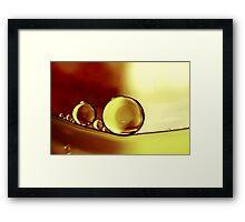 Oil & Water V Framed Print