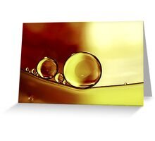 Oil & Water V Greeting Card