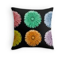 Variegated Dandelions Throw Pillow