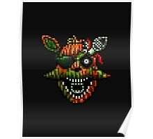 Five Nights at Freddy's 3 - Pixel art - Phantom Foxy Poster