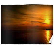 Sunset Over Brighton's West Pier - Landscape Poster