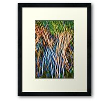 Brush Abstract Framed Print