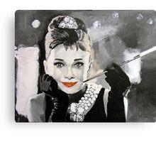 Audrey in Breakfast at Tiffanys Canvas Print
