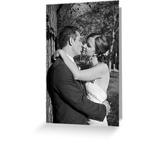 Wedding day embrace Greeting Card