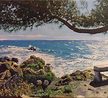 The sealovers bench - Ventimiglia (Italy) by Antonio  Luppino