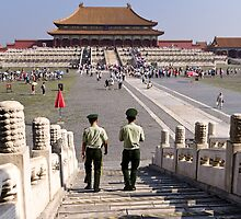 Palace Patrol - Beijing China by Norman Repacholi