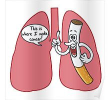 Cigarette Lung Cancer Poster