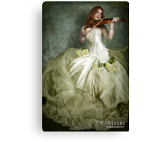Music And Fine Lace Canvas Print