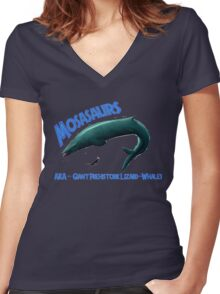 Mosasaurs Women's Fitted V-Neck T-Shirt