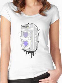 YASHICA Mat 124 G Women's Fitted Scoop T-Shirt