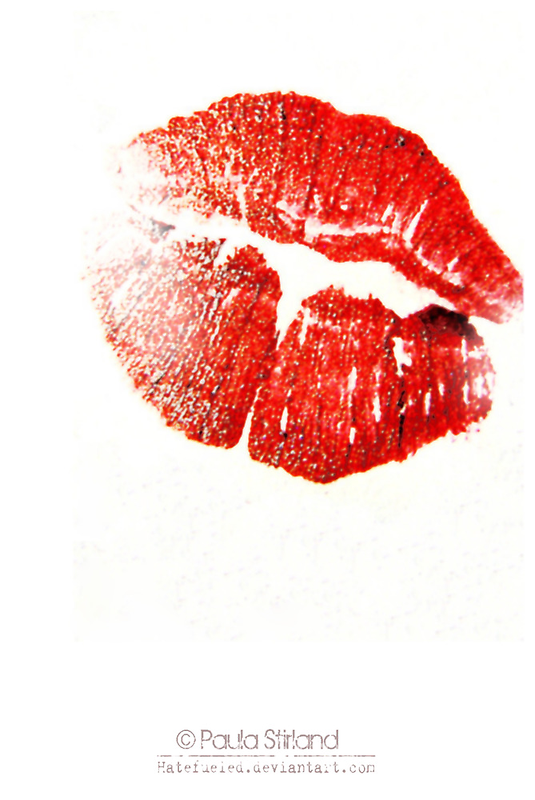 Passionate Red Kiss by Gozza