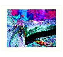 Psychedelic Lizards Art Print
