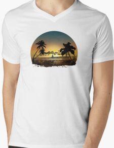 Sunset (2) Mens V-Neck T-Shirt