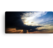 Sunset in a blaze of glory Canvas Print