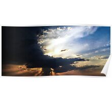 Sunset in a blaze of glory Poster