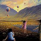 Balloon children by Alan Kenny