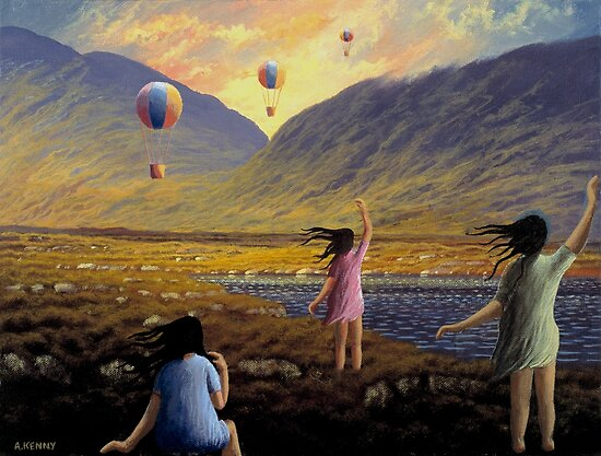 Balloon children by Alan Kenny