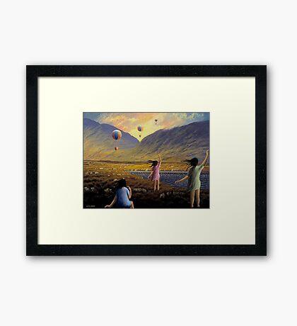 Balloon children Framed Print