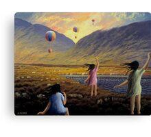 Balloon children Canvas Print