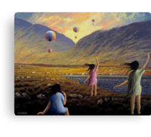 Balloon children Canvas Print